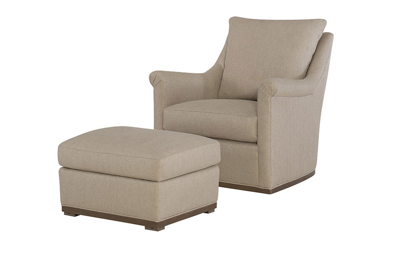 Wesley Hall 2011 Houston Swivel Chair and 2011-24 Ottoman
