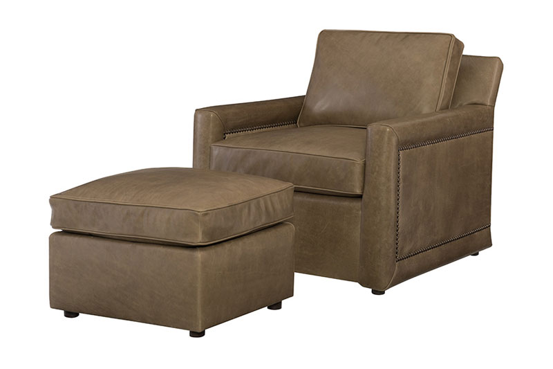 Wesley Hall L2005 Meed Chair and L2005-23 Ottoman