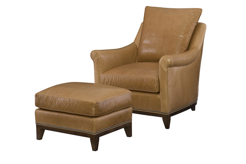 Wesley Hall L2007 Snyder Chair and L2007-24 Ottoman