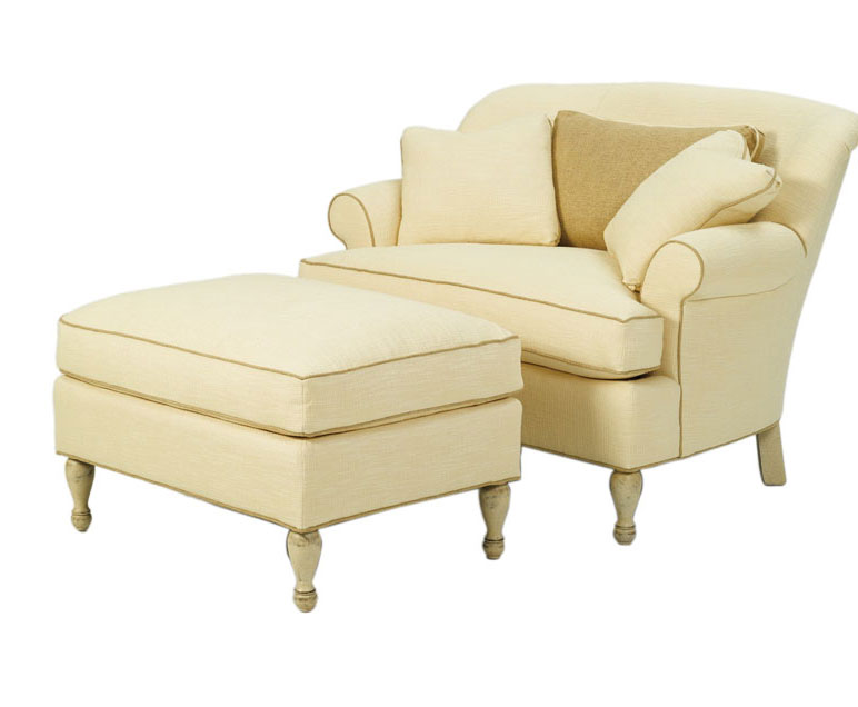 Wesley Hall 1404-49 Madison Chair & Half and 1404-36 Madison Ottoman