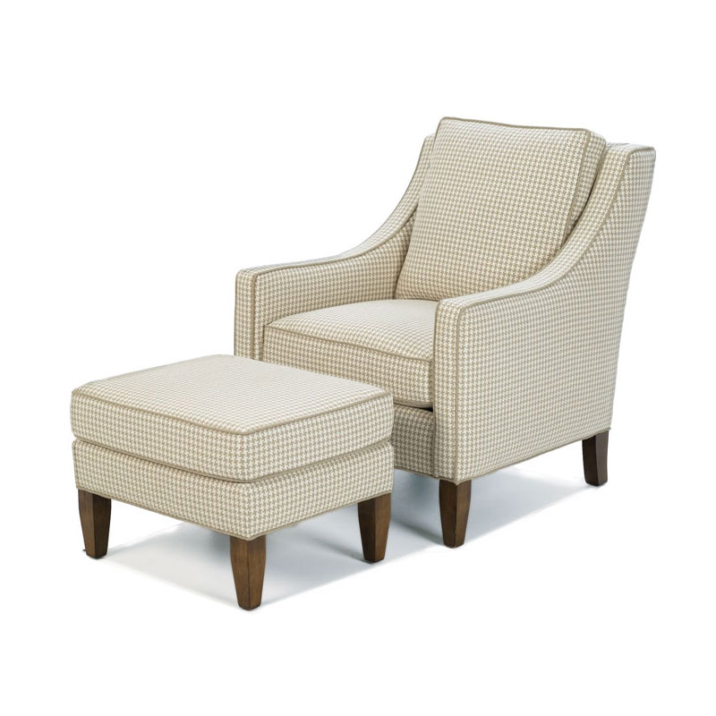 Wesley Hall 1719 Walker Loose Back Chair and 1719-24  Walker Ottoman