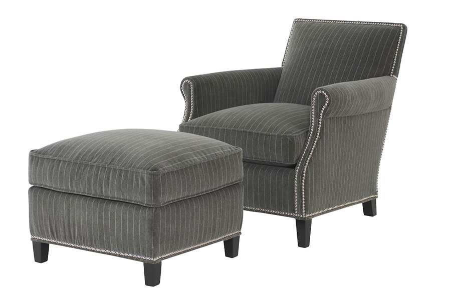 Wesley Hall 596 Wilborn Chair and 596-22 Wilborn Ottoman