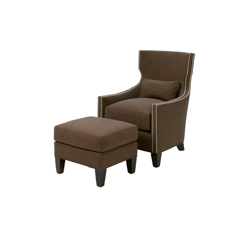 Wesley Hall 712 Tribeca Chair and 712-24 Tribeca Ottoman