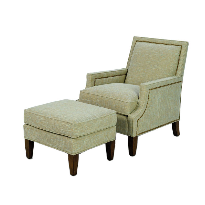 Wesley Hall 1733 Oliver Chair and 1733-24 Oliver Ottoman