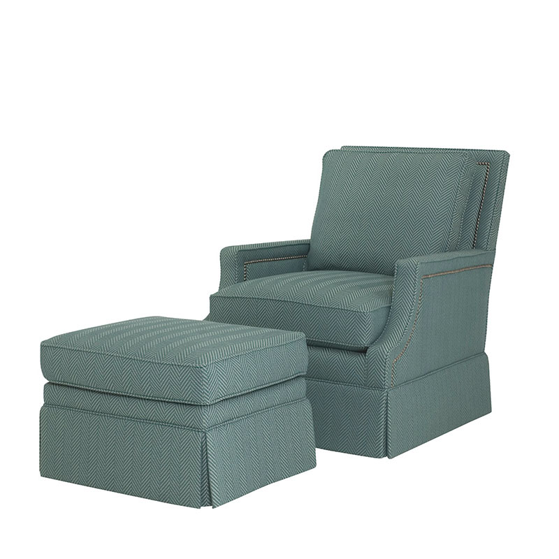 Wesley Hall 615 Cecily Chair and 615-24 Cecily Ottoman
