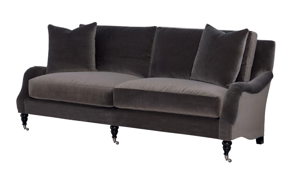 Wesley Hall 2060 90 Thomas Sofa Ohio Hardwood Furniture