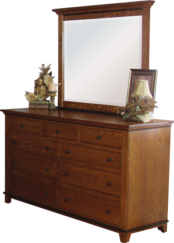 "Brookstone 62 1/2"" Dresser (430) with Bevelled Mirror (443)"
