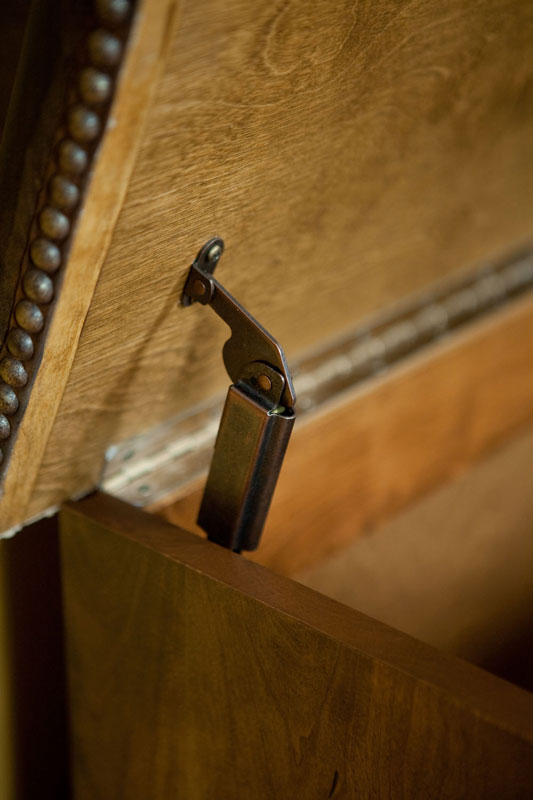 Hidden Hinge on the Blanket Chest