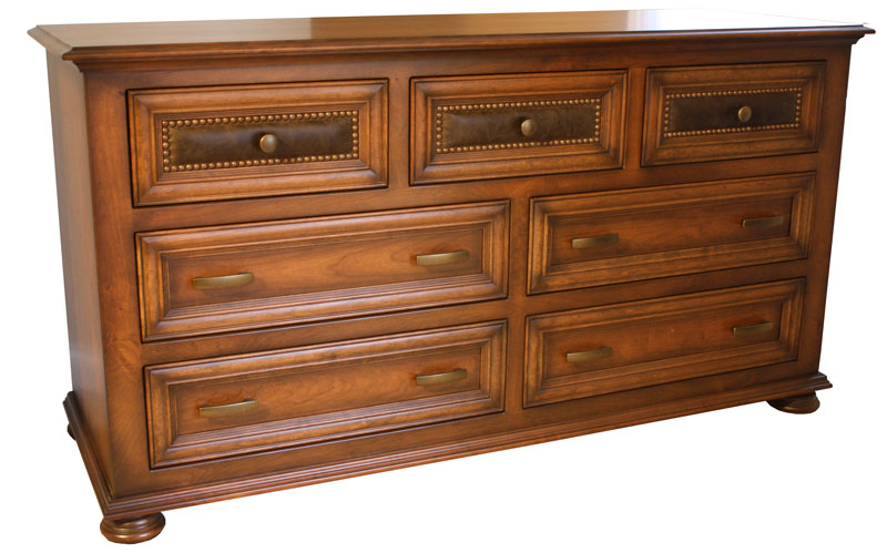 Canyon Creek Dresser with Optional Three-Drawer Leather Accent Panels