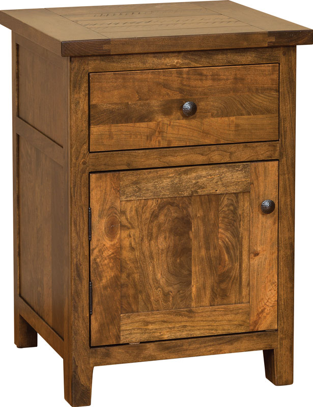Timber Mill 1 Drawer Nightstand with Door