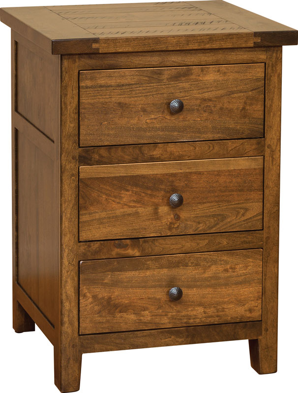 Timber Mill 3 Drawer Nightstand