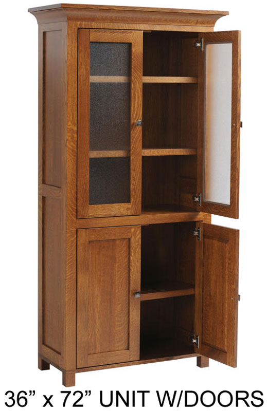 "36"" x 72"" Bookcase with Doors"