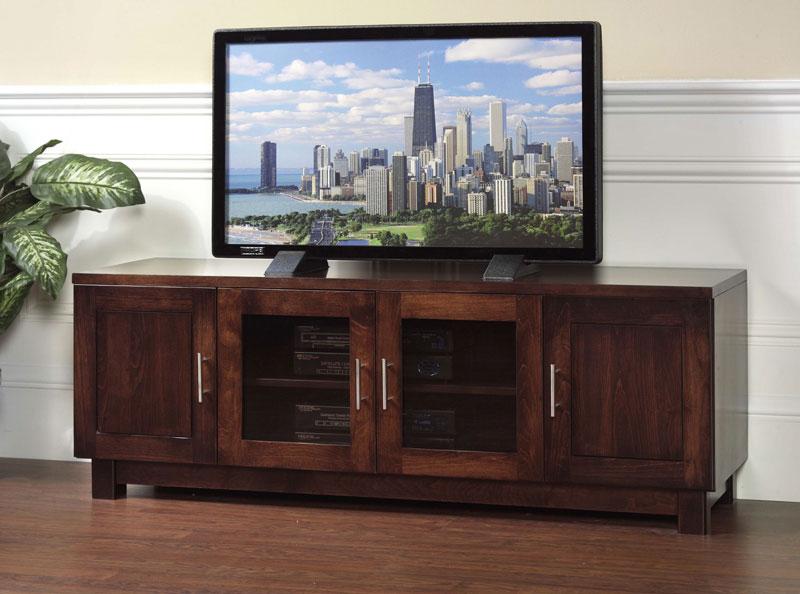Urban 2 Glass Door Tv Stand In Solid Hardwood Ohio Hardwood Furniture