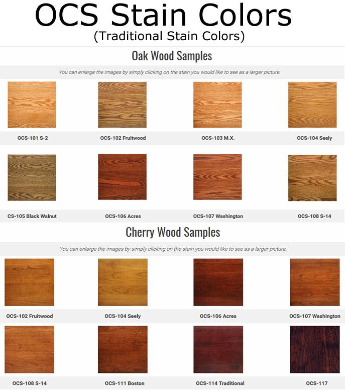 Stain Finishes Ohio Hardwood Furniture