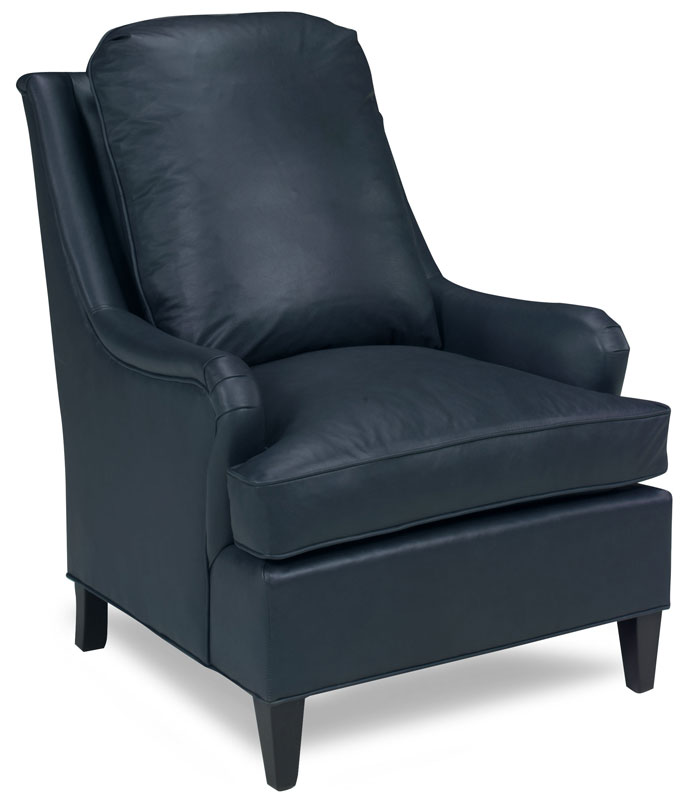 Drew Chair 3018 in Corona Blueberry Leather. Fabric Shown is Java.  sc 1 th 240 & Drew Chair 3018- Ohio Hardwood Furniture
