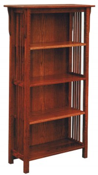 Prairie Mission Bookshelf with Back