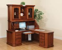Fifth Avenue Executive Corner Roll Top Desk with Hutch
