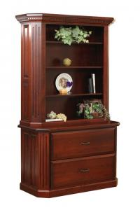Fifth Avenue 2-Drawer Lateral File Cabinet and Hutch