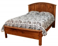 Meridian Bed with Solid Panel Headboard