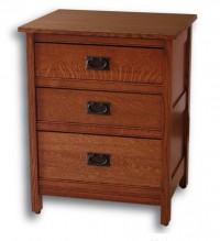 Country Mission 3 Drawer Nightstand