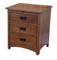 Empire Mission 3-Drawer Nightstand
