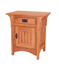 Deluxe Mission 1 Door 1 Drawer Night Stand