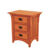 Deluxe Mission 3 Drawer Night Stand
