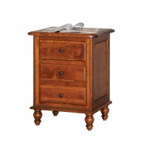 Rolling Pin 3 Drawer Nightstand