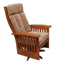 Deluxe Bow Back Swivel Glider