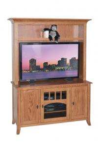 Old World #52 Straight Wall TV Stand