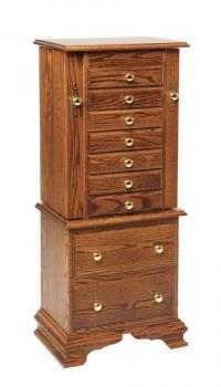 Deluxe Armoire with Clock Base