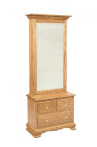 Mirrored Armoire with 3 Drawer Base