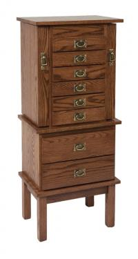 Split Mission Jewelry Armoire